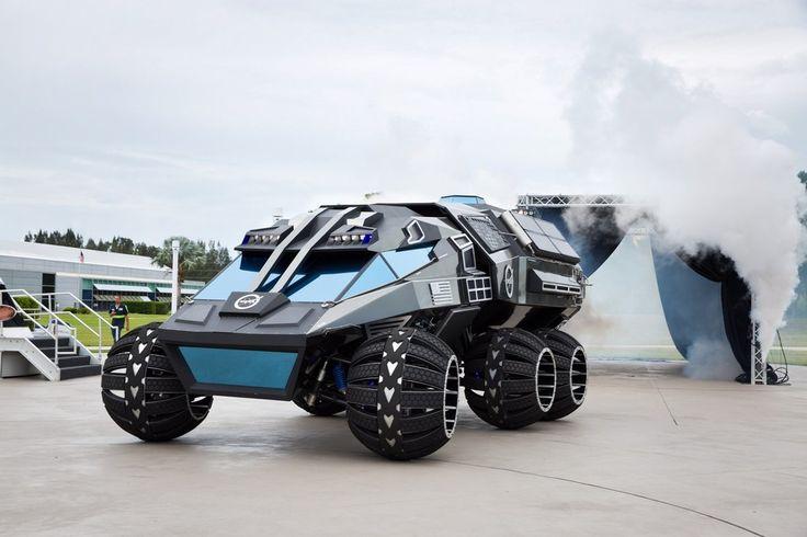 El mes pasado pudimos anticipar a este monstruo con pegatinas de la NASA, una especie de Batmóvil con el que la agencia quiere explorar Marte. Podríamos decir que es un concepto que forma parte de la línea rover de la casa, que no tiene muchas papeletas para convertirse en algo real en el futuro,   #geek #tecnologia