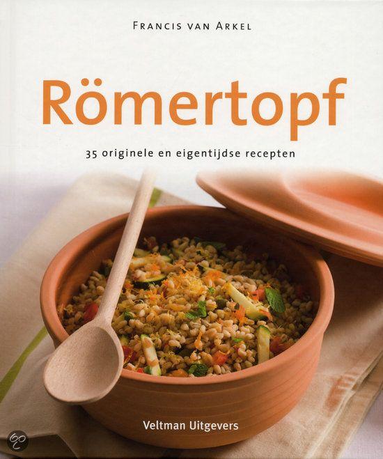 Römertopf - Francis van Arkel - ISBN 9789048302970. 35 originele en eigentijdse recepten. Een römertopf is superhandig. In principe doe je alle ingrediënten in de römertopf en laat je de oven het werk verder doen. Je hebt je handen vrij voor.....GRATIS VERZENDING IN BELGIË - BESTELLEN BIJ TOPBOOKS VIA BOL COM OF VERDER LEZEN? DUBBELKLIK OP BOVENSTAANDE FOTO!