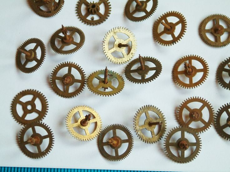 Watch GEARS STEAMPUNK Parts 15 Artist's Lot Steam Punk Movement old  watch parts brass material jewelry supply Wheels Cogs Parts Pieces - pinned by pin4etsy.com