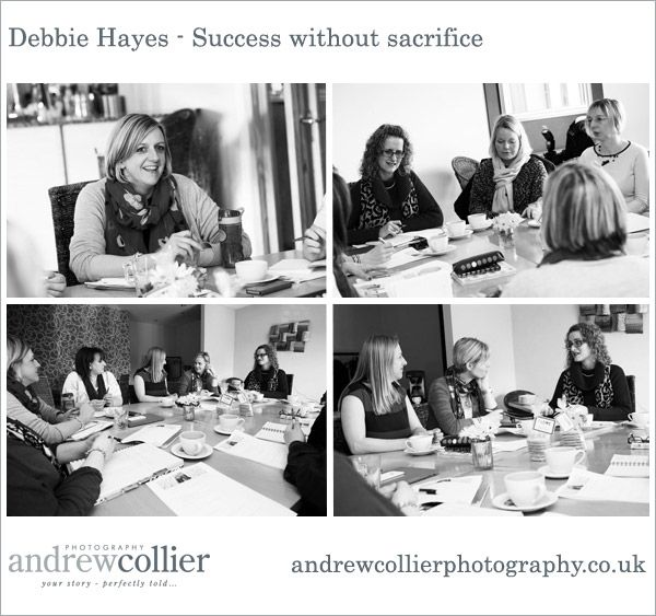 Marketing photography tells the story of your business. This photograph was taken at a group coaching session for www.debbiehayes.co.uk