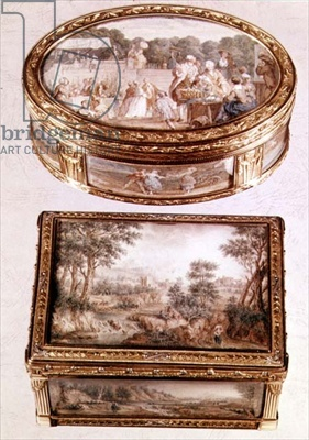 Two Louis XV gold snuff boxes
