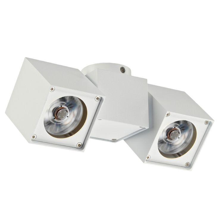 ALTRA DICE Spot 2 - Deckenleuchte - Deckenleuchte für 2x QPAR51, GU10 Spots, 230Volt - dreh- und schwenkbar