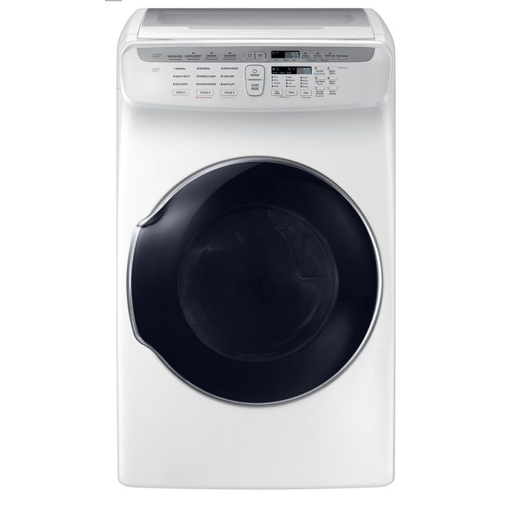 Samsung 7.5 cu. ft. Electric FlexDry Dryer with Steam in White, Energy Star