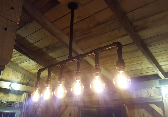 Rustic Industrial Lighting Chandelier Edison Bulb Iron