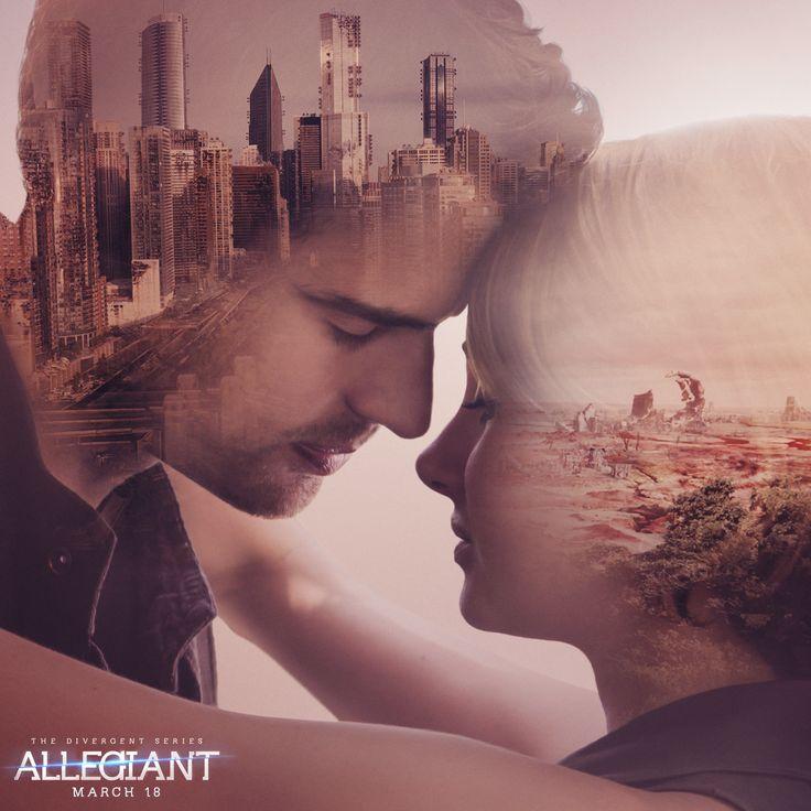 What will happen when Four & Tris enter a new world? Get #AllegiantTickets today: http://divergentseri.es/allegianttix - In theaters March 18.