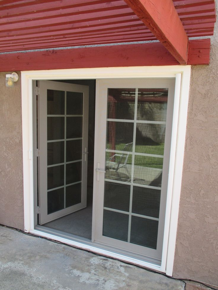 17 best images about french door stowaway retractable for Can french doors have screens