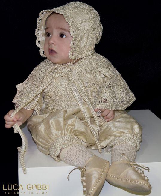 Ropones de Bautizo para niño Luca Gobbi. www.LucaGobbi.com ...