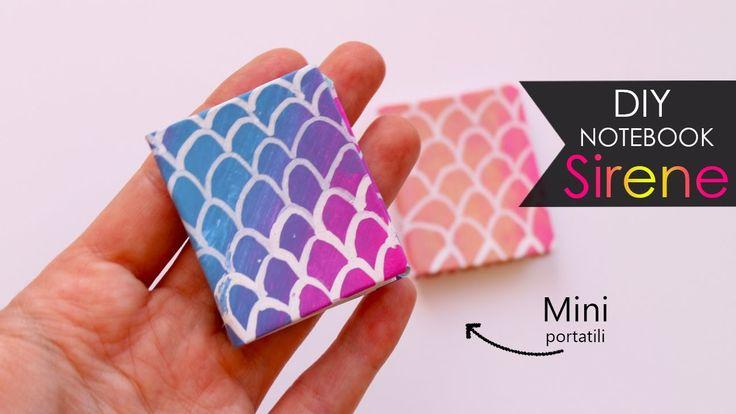 DIY Notebook 🐠 Sirene | Mermaid - Mini portatili