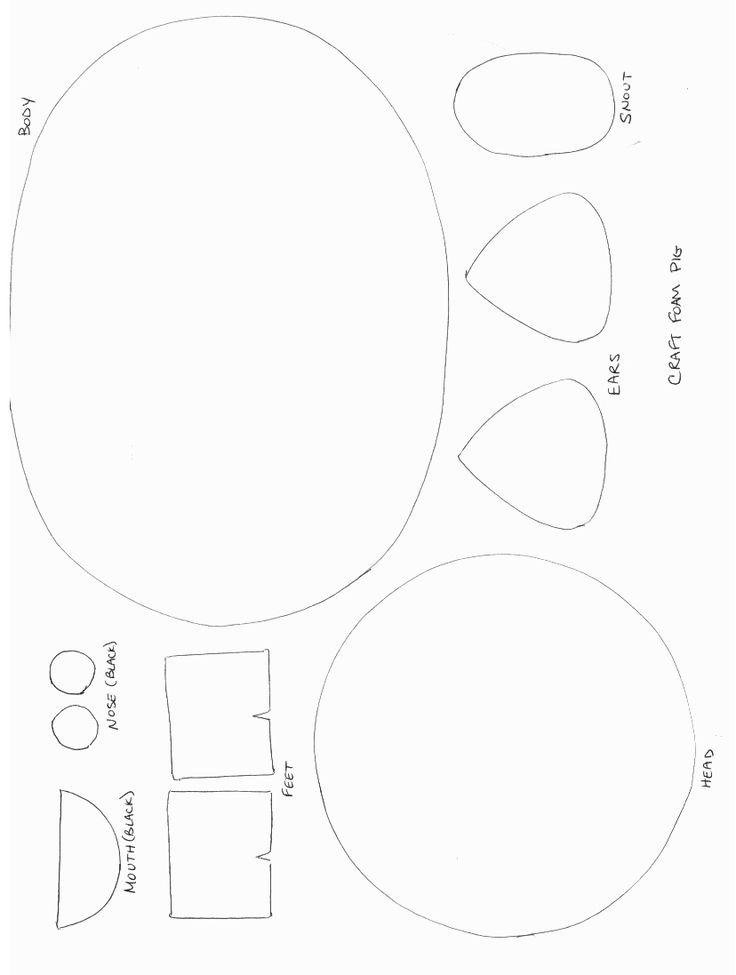 Animals Crafts - Print your Pig Craft Template at AllKidsNetwork.com