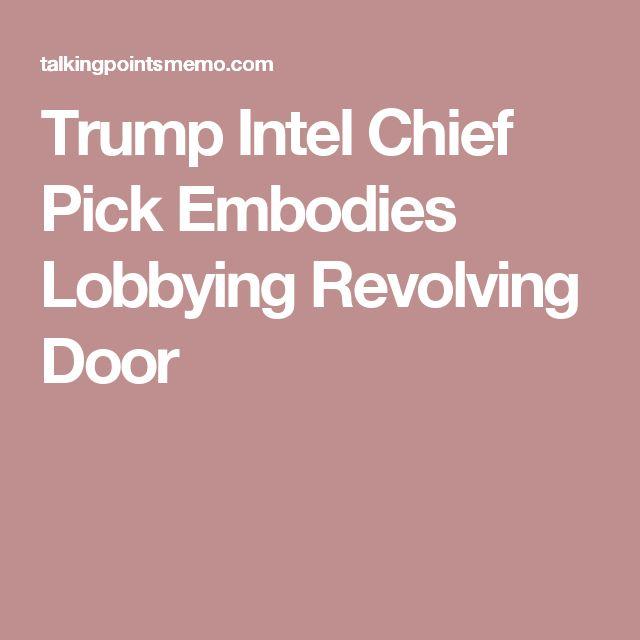 Trump Intel Chief Pick Embodies Lobbying Revolving Door