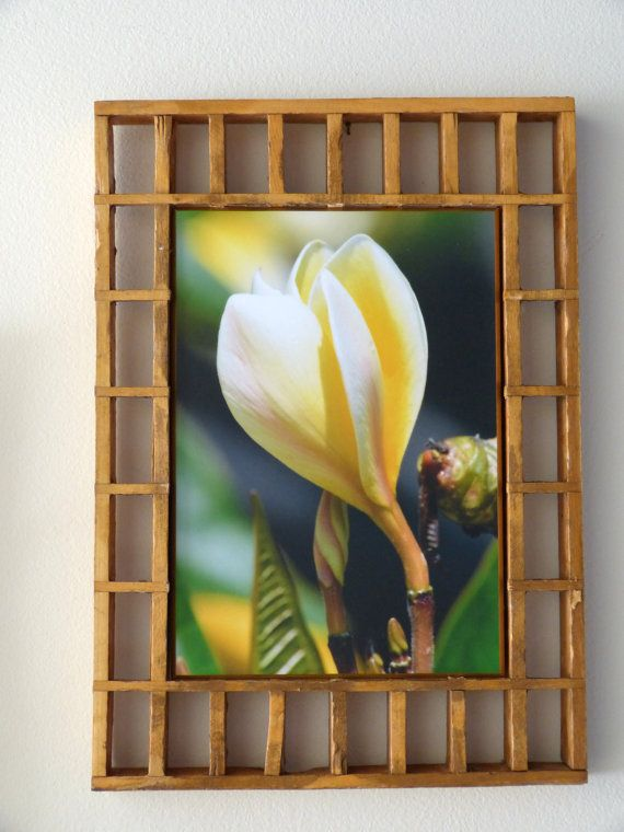 So beautiful! Frame is made of antique cold air vents. Photography is original by mom Charmaine.