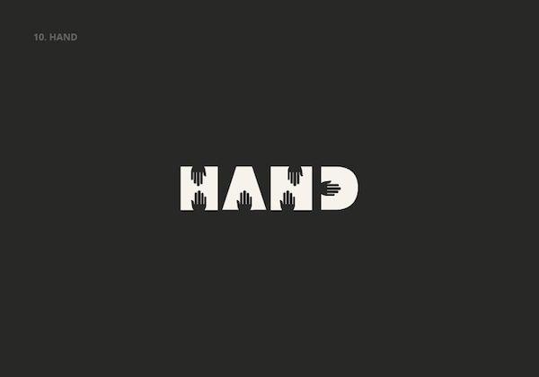 El diseñador español Lucas Gil-Turner convirtió algunas de las palabras en inglés más utilizadas en una colección de logotipos con un diseño creativo.