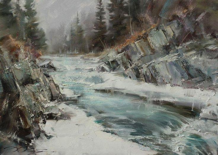 Горная река - 50х70.2014.
