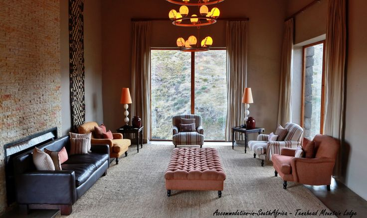 Lounge at Tenahead Mountain Lodge and Spa, Rhodes. Rhodes Accommodation.