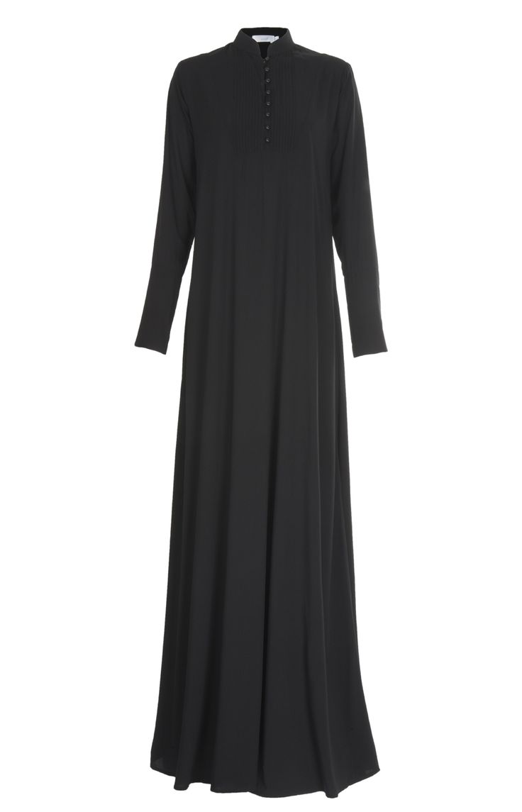 Aab UK Pintuck Black Abaya : Standard view