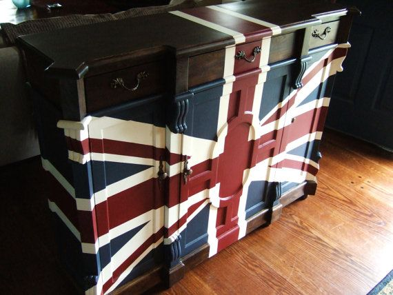 Old English Union Jack Buffet by Artisan8 on Etsy