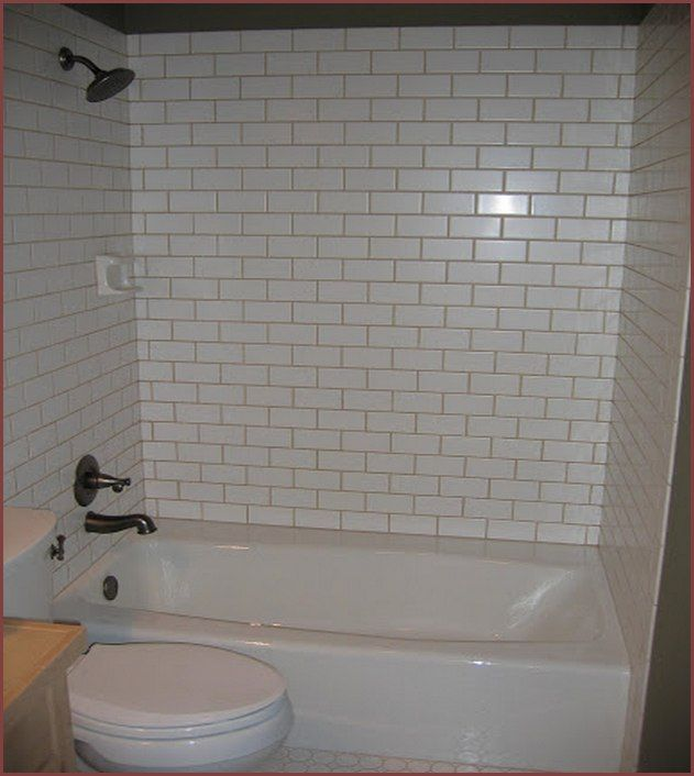 White Tile Bathtub Surround Light Gray Grout Jack Amp Jill