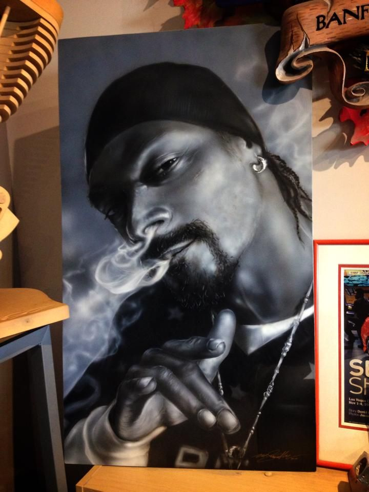 Airbrushed Snoop Dogg - Painted by Mike Lavallee of Killer Paint - www.killerpaint.com