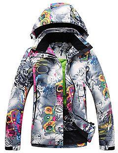 GQY® Mujer Chaqueta de Esquí Impermeable Mantiene abrigado Resistente al Viento Listo para vestir Esquí Deportes de Invierno Poliéster – EUR € 200.23