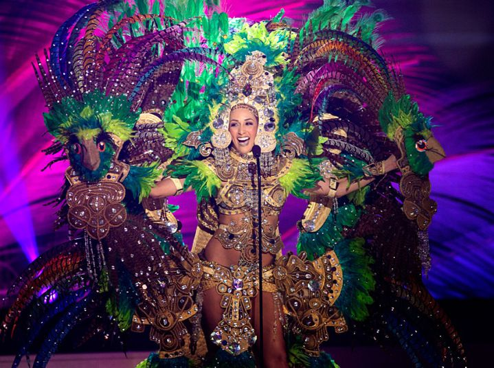 Miss Nicaragua - National costume show during the 63rd annual Miss Universe Competition in Miami