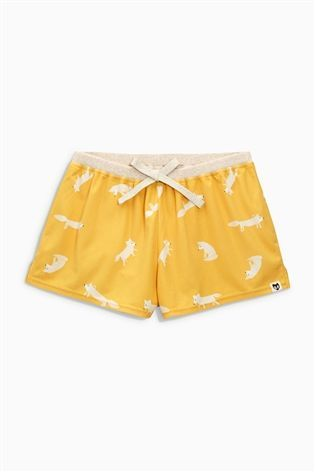 Buy Ochre Cosy Fox Print Shorts from the Next UK online shop
