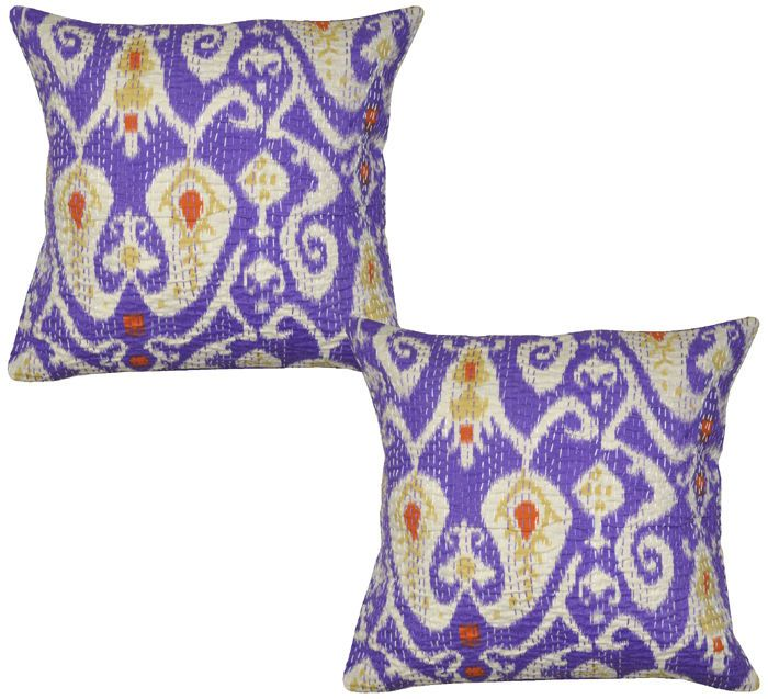 Indian Decorative Pillow Covers Cotton Printed Cushion Cover Pair 40cm Throw