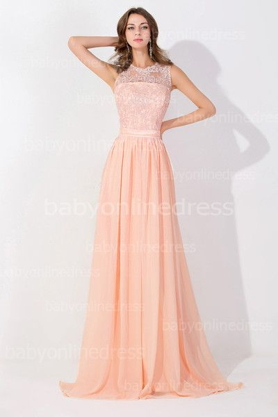 Online Shopping Peach Pink Long High Neck Cheap Prom Dresses 2015 Lace Real Image Backless Sheer Long Evening Gowns In Stock Bridesmaid Dress BZP0530 103.36 | m.dhgate.com