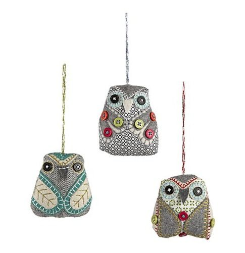 owl christmas ornaments. love these... can't wait to have the most colorful christmas tree ever!