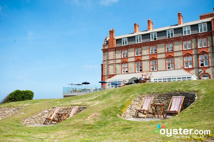 Set on a bluff overlooking Fistral Beach, The Headland Hotel - Newquay is a Victorian stunner. Built in 1900.....Just a bit north of where the Warrick clan is originally from...