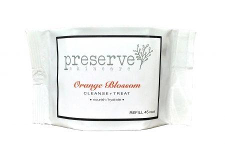 Preserve Skincare Orange Blossom Face Cleansing Pad Refill - International Orange