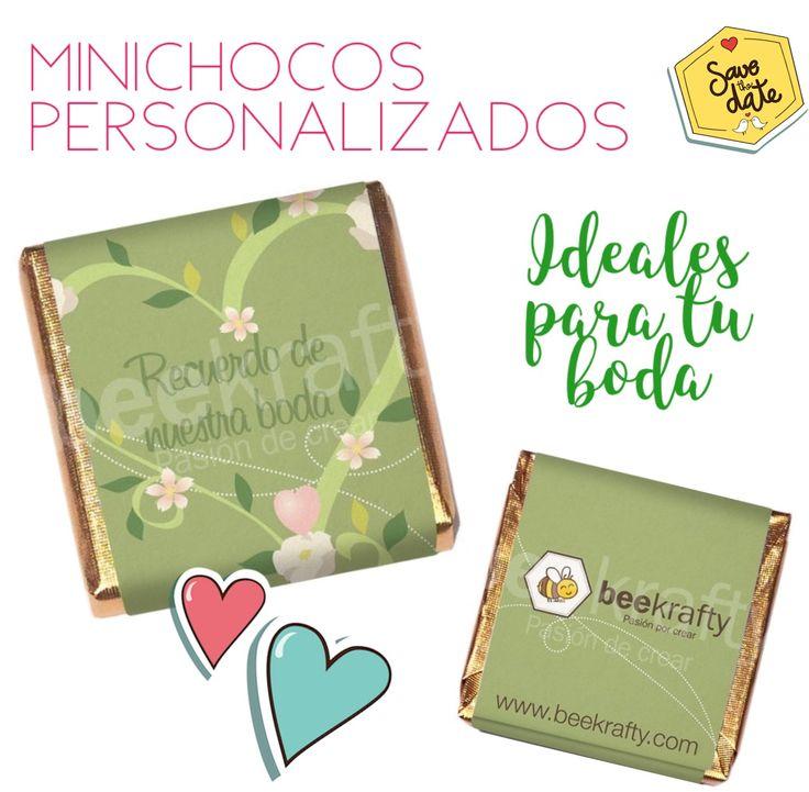 Personalizamos los minichocos con lo que quieras para tu boda. Consíguelos en www.beekrafty.com #beekrafty #pasionporcrear  http://www.beekrafty.com/es/chocolates/26-18-minichocos-para-boda.html