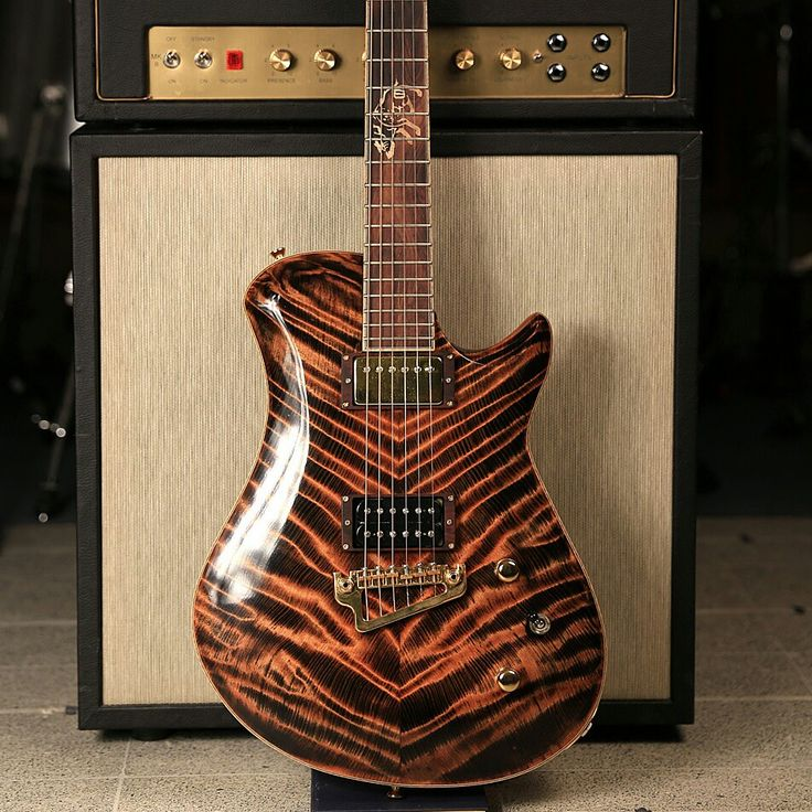 Flame Redwood Leaf - Custom Guitar