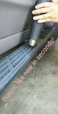 ef690c208a5203f30a3171ddbda0dc9b  heat gun auto detailing Plastic Restoration in Seconds!