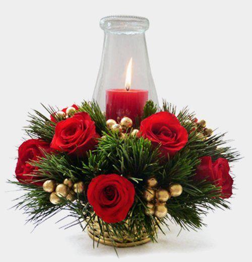 C mo hacer un arreglo floral navide o paso a paso - Arreglos navidenos faciles de hacer ...