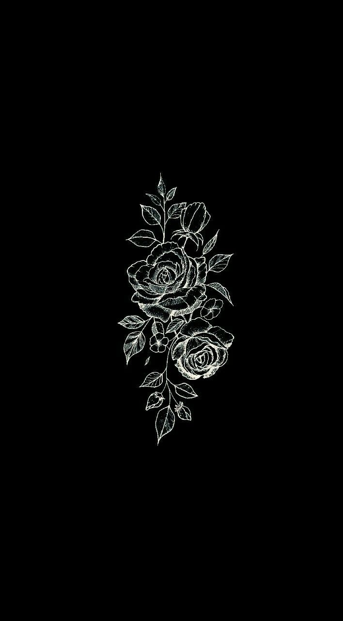 Pin By Sara On Phone Wallpapers Black Flowers Wallpaper Black Aesthetic Wallpaper Dark Wallpaper