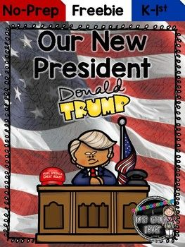 Introduce your kinders and firsties to our new President! This pack contains: *reproducible reader *sentence building activity*number writing *roll and count on activity*President Trump color page*President Trump writing paperHope you love this lil FREEBIE!