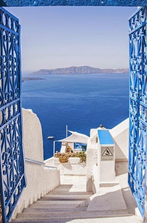 Sea Gate, Santorini, Greece