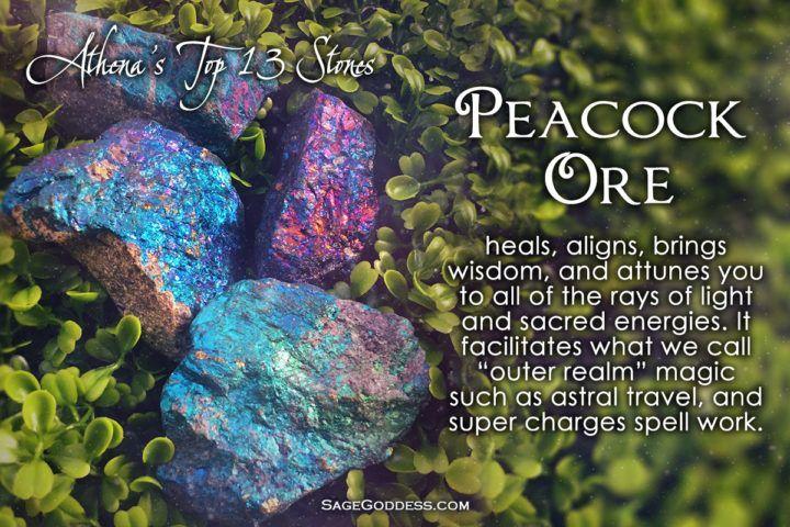 So pretty, and so magical. #SageGoddess #crystal #healing #peacockore #magical
