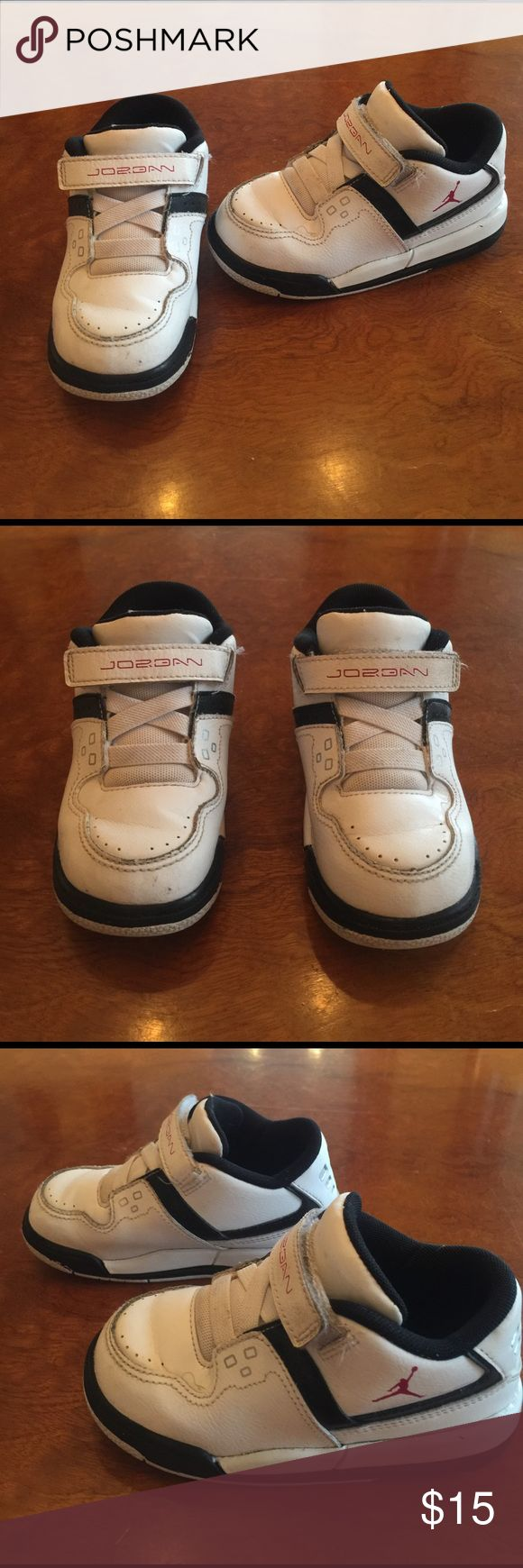 Kids Jordan Athletic Shoes Toddler Size 7 Nike Jordans Size 7/8 Toddler. No tags..Daughter wore last year just a few x's & tags came off in washer. Perfect condition! Super comfy too for growing feet! Nike Shoes
