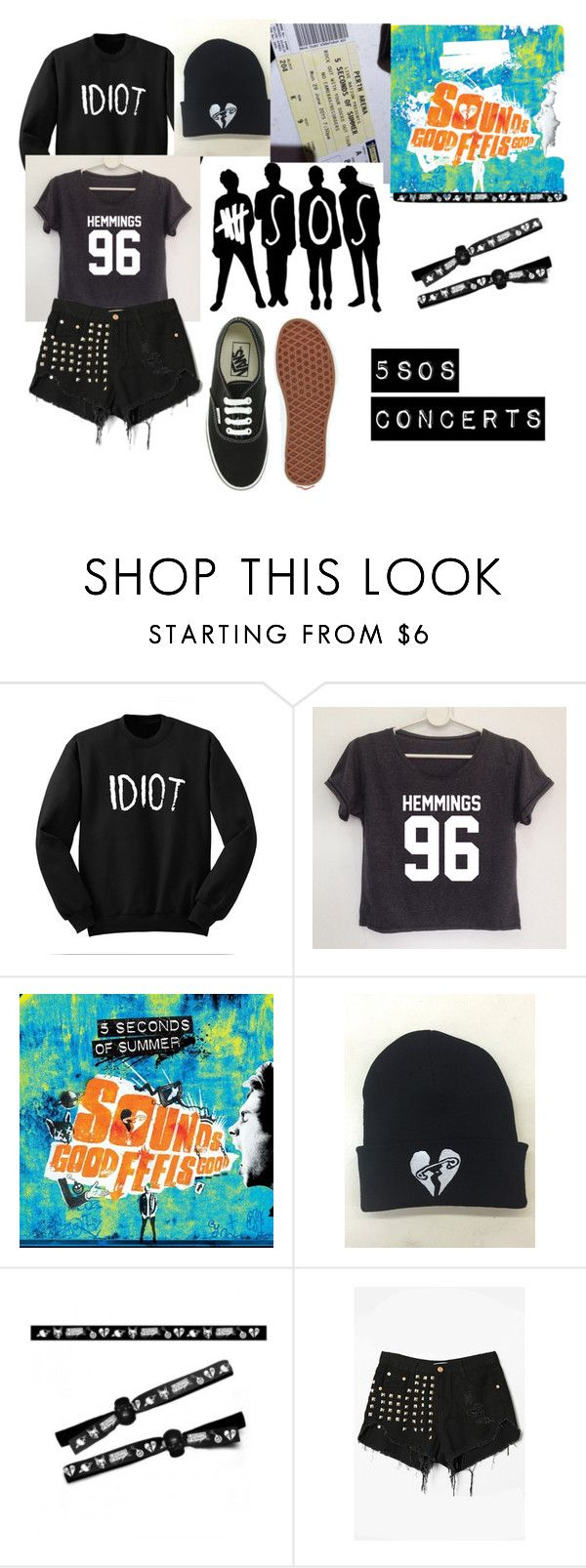 """""""5sos concerts in 2016"""" by oopsitshayley on Polyvore featuring WithChic and Vans"""
