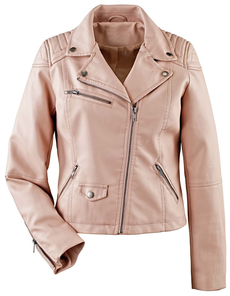 Blush Pink Trend - Faux Leather Jacket, £55, La Redoute http://www.laredoute.co.uk/
