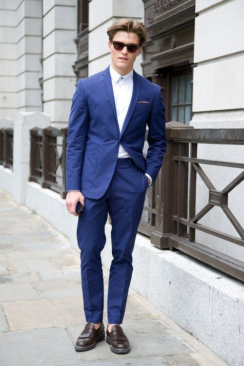navy suit with loafers style inspiration pinterest