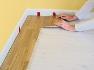 How to Install Click-Lock Laminate Flooring   how-tos   DIY