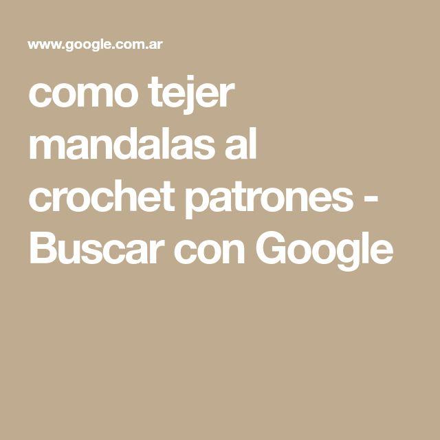 como tejer mandalas al crochet patrones - Buscar con Google | ATRAPA ...
