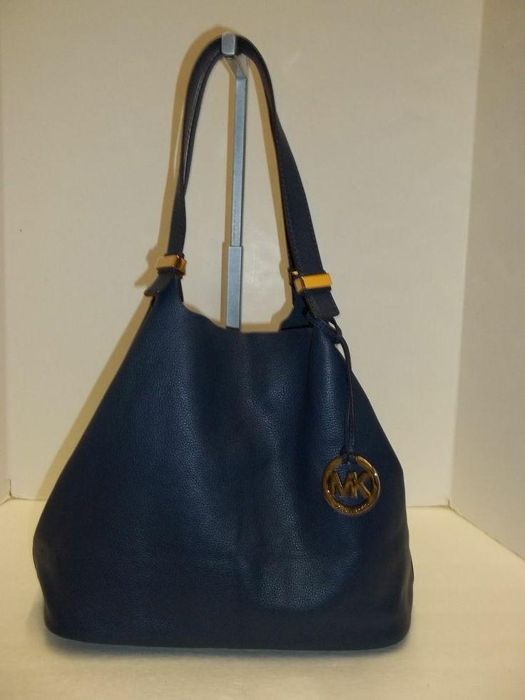 55c917fc9965 michael kors handbags blue navy canvas michael kors blouse size m ...