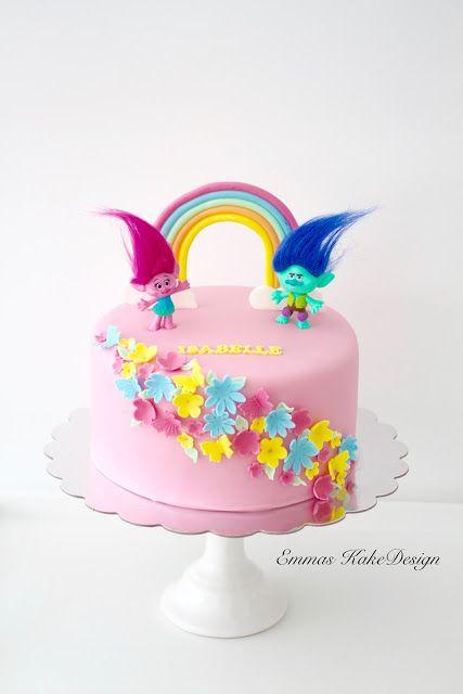 Emmas KakeDesign: Trolls cake! www.emmaskakedesign.blogspot.com