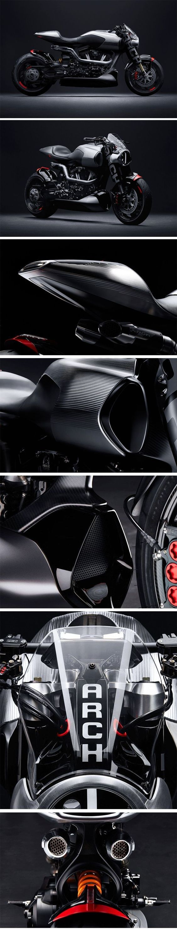 The Arch Motorcycle Method 143 Concept Bike by Keanu Reeves.  This 143ci. / 2343cc powered S&S Cycle Monster will have a limited production run of 23 units.