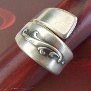 11 Besteck Schmuck Ring Gabel Kuchengabel Kaffeelöffel silber Löffel Art Deko WMF BSF OKA Wilkens R&B Wellner gefertigt von Marion Heine Soulous Art