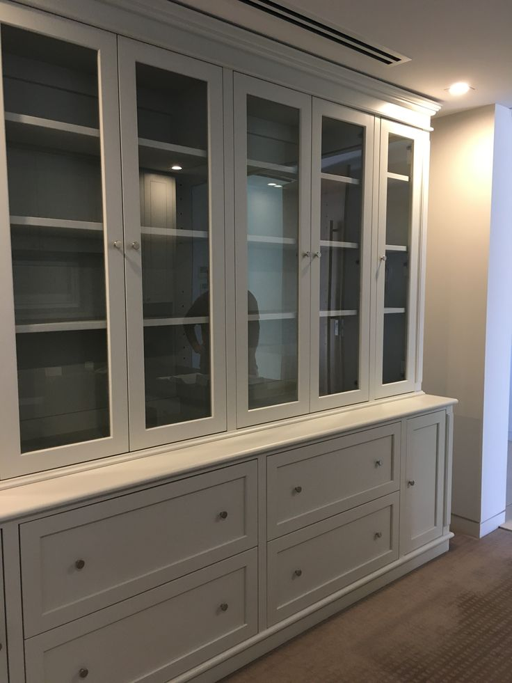 Custom Made White Built in Cabinet by Charcoal Interiors Brisbane