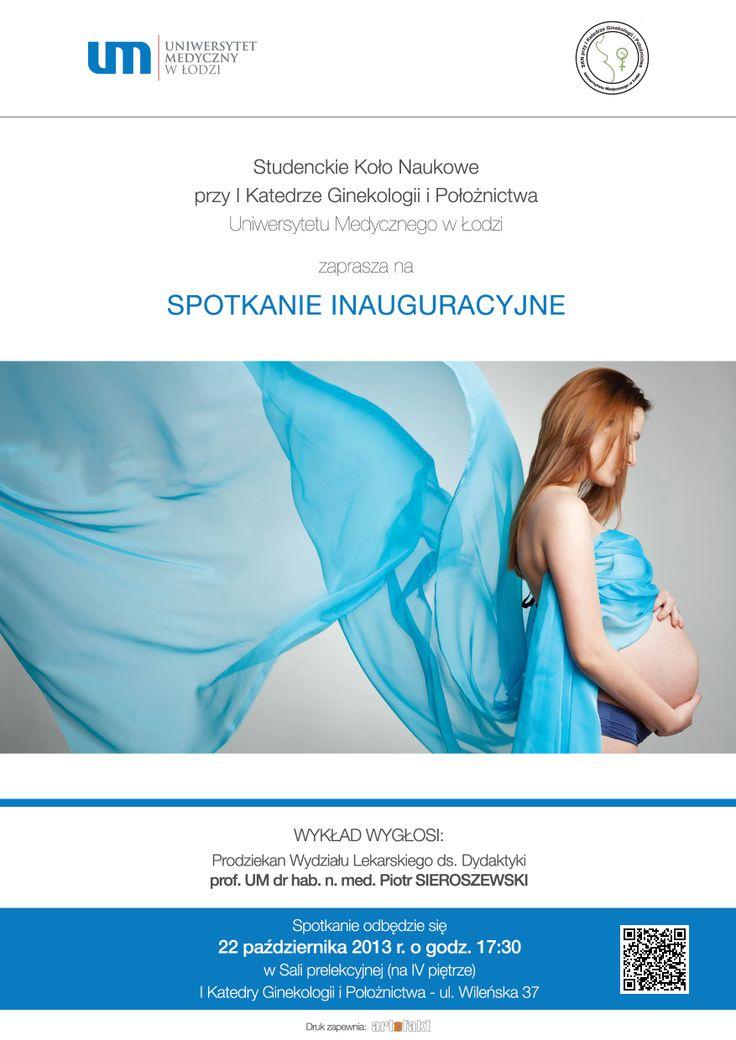 [UMed Łódź] Projekt plakatu na spotkanie SKN przy I Katedrze Ginekologii i Położnictwa UM w Łodzi ver.1